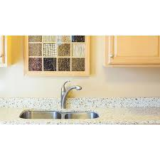 100 Kitchen Glass Countertop Curava Wheat Recycled Sample At Lowescom