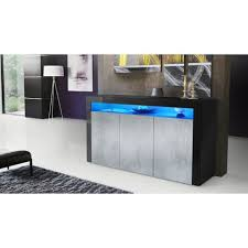 sideboard torino in schwarz matt und beton oxid