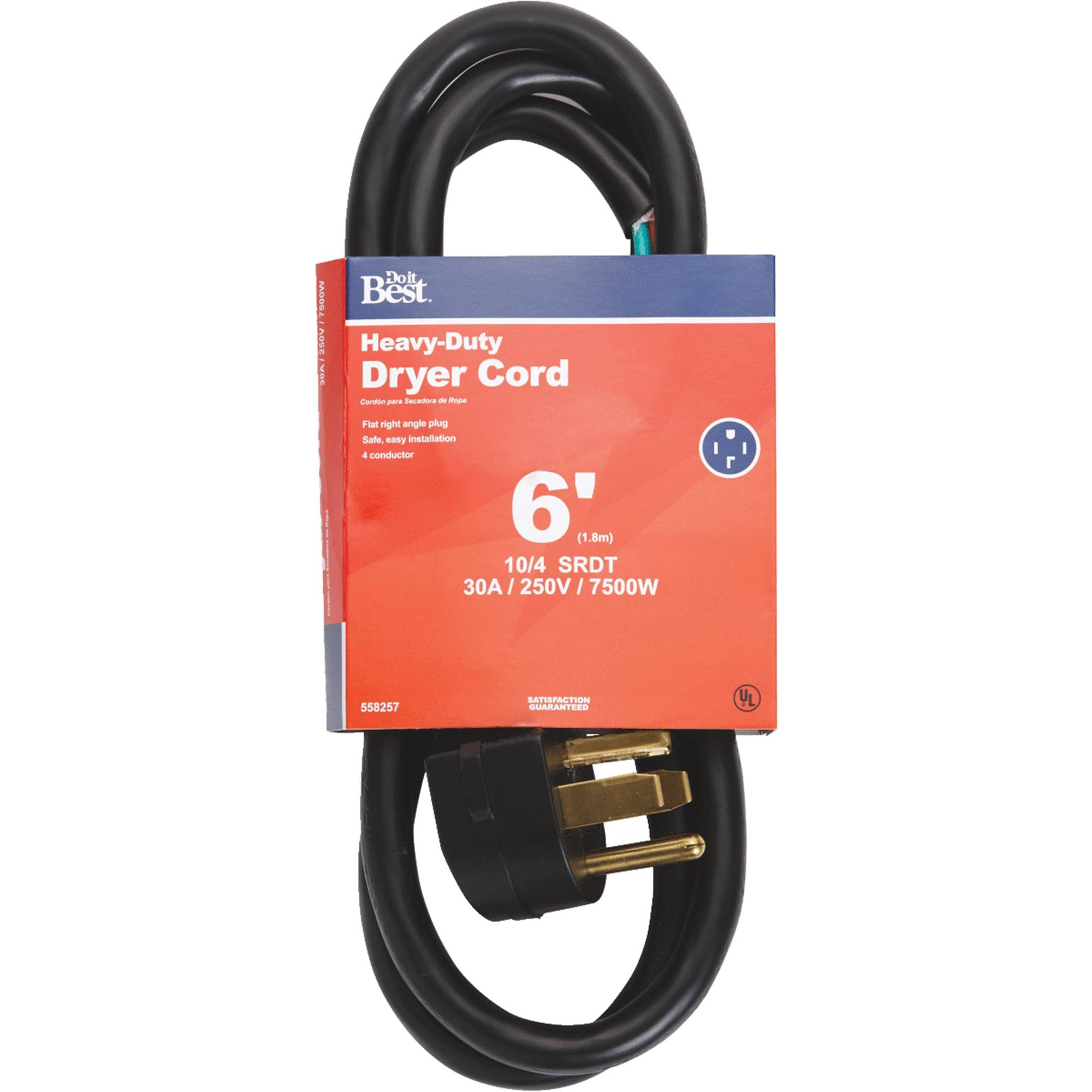 Woods Import Do it Dryer Cord - Black, 6'