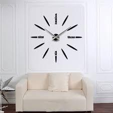 Quartz DIY Modern Clocks Needle Acrylic Watches Big Wall Clock Mirror Sticker Living Room Decor In From Home Garden On Aliexpress