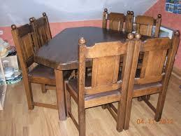 chaise en ch ne massif table 6 chaises chene massif occasion clasf