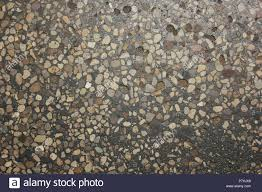 Extremely Worn Terrazzo Flooring With Many Patchwork Fixes And Decades Of Wear At The CTA Blue Line Train Cumberland Station In Park Ridge Illinois