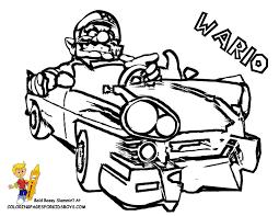 Super Mario Coloring Wario Pages Book Kids Boys