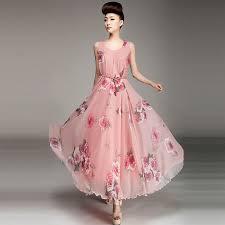 blue long sleeve o neck floral maxi dress long promotion shop for