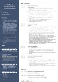 Production Manager - Resume Samples And Templates | VisualCV Product Manager Resume Example And Guide For 20 Best Livecareer Bakery Production Sample Cv English Mplate Writing A Resume Raptorredminico Traffic And Lovely Food Inventory Control Manager Sample Of 12 Top 8 Production Samples 20 Biznesasistentcom