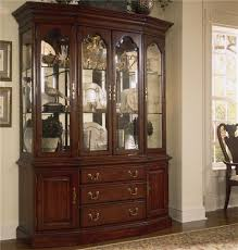 Raymour And Flanigan Lindsay Dresser by American Drew Cherry Grove 45th Canted Glass Door China Cabinet