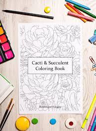 Cacti Succulent Coloring Book Digital Download PDF