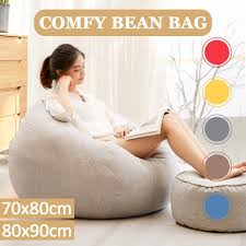 Large Bean Bag Chairs Couch Sofa Cover Indoor Lazy Lounger For Adults  80x90cm Recliner Bean Bag Gaming Chair Indoor Outdoor Extra Large Beanbag  Gamer ... Top 10 Bean Bag Chairs For Adults Of 2019 Video Review 2pc Chair Cover Without Filling Beanbag For Adult Kids 30x35 01 Jaxx Nimbus Spandex Adultsfniture Rec Family Rooms And More Large Hot Pink 315x354 Couch Sofa Only Indoor Lazy Lounger No Filler Details About Footrest Ebay Uk Waterproof Inoutdoor Gamer Seat Sizes Comfybean Organic Cotton Oversized Solid Mint Green 8 In True Nesloth 100120cm Soft Pros Cons Cool Desain