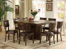 Charming Ideas Square Dining Table Seats 8 Exclusive Design Awesome Room With 4