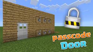 passcode door mcpe 0 13 0 redstone creations minecraft pe