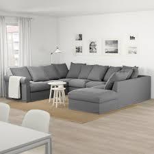 grönlid sofa u form 6 sitzig ohne abschluss ljungen mittelgrau