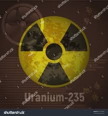 Sign Radiation Uranium 235 Brown Abstract Stock Vector