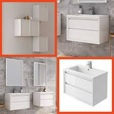 Erin 1200 Double Basin Vanity Unit Grey Elm White Glass Basin
