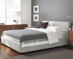Pottery Barn Raleigh Bed by Low Headboard Beds Raleigh Upholstered Square Low Bed Headboard