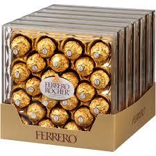 Ferrero Rocher Christmas Tree Stand by Ferrero Rocher Fine Hazelnut Chocolates 10 6 Oz Walmart Com