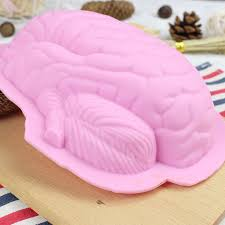 Jello Halloween Molds Instructions by Human Brain Shape Pan Baking Silicone Halloween Cake Mold Pudding
