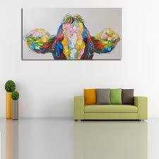 ölgemälde auf leinwand wandbilder für wohnzimmer kunst leinwand bunte kuh moderne abstrakte handgemalte home decor