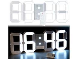 lunartec led uhr schlafzimmer digitale led tisch