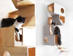 modern cat tower catissa cat tree doubles as stylish wall 6sqft