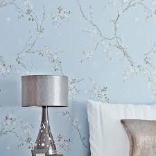 vintage chinesische blumen wand papiere dekoration blau grau tapete rolle für wohnzimmer schlafzimmer wände kontaktieren papier papel tapiz