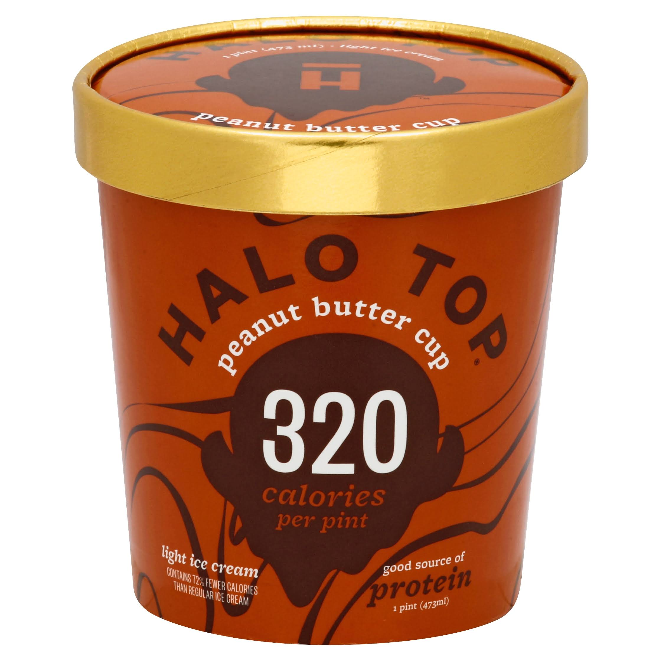 Halo Top Creamery Peanut Butter Cup Ice Cream - 16oz