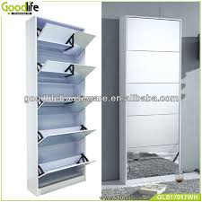 Simms Modern Shoe Cabinet Assorted Colors by European Sliding Mirror Door Shoe Storage Cabinet Photo Detailed