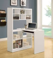 furniture contemporary white painted wood small corner computer