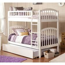 White Twin Over Full Bunk Bed With Storage — Modern Storage Twin