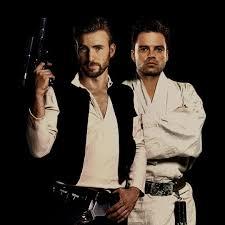 Chris Evans And Sebastian Stan As Han Solo Luke Skywalker Can We