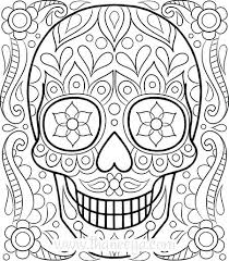 Full Image For Free Printable Coloring Pages Adults With Quotes Sugar Skull Page