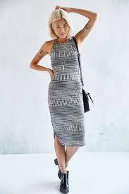 Ecote Space Dye Bodycon Midi Dress