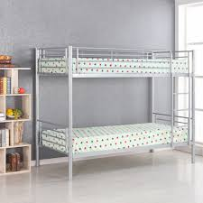 Jordans Furniture Bunk Beds by Silver Ikayaa Modern Single Over Single Metal Bunk Bed Frame