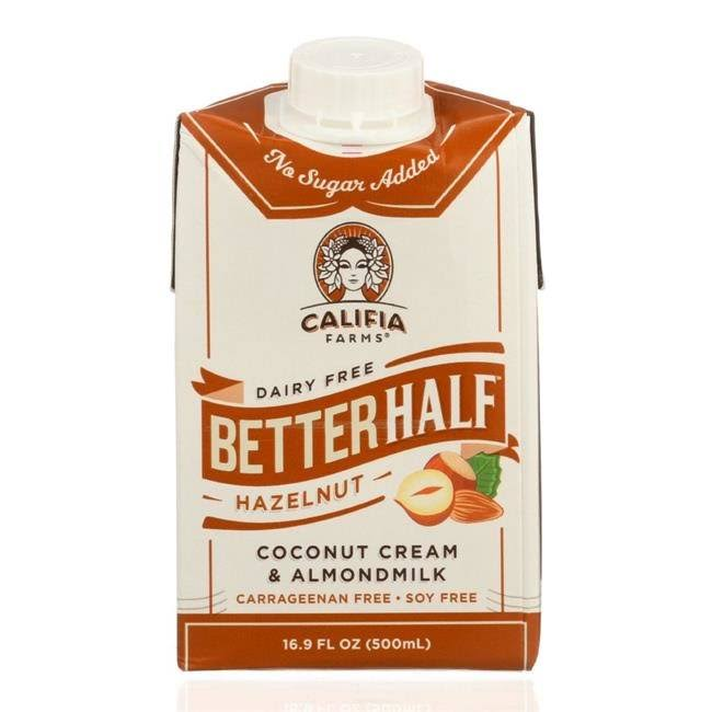 Califia Farms Better Half Coffee Creamer - Hazelnut, 16.9oz