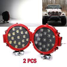 100 Atv Truck 2x Offroad 7 Inch 51W Led Work Lights Spot Jeep ATV Backup