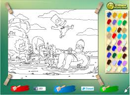 The Simpsons Coloring Games Online