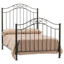 Wrought Iron King Headboard And Footboard by Black Coated Wrought Iron Leirvik Bed Frame Bedroom Magnificent