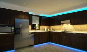led lighting cabinet kitchen cool blue and green led light