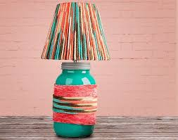 Yarn Wrapped Lamp Shade Diy How To Make A View In Gallery Home Design 16