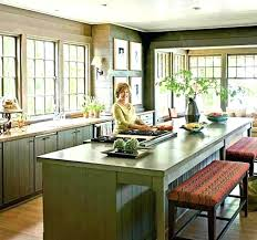 Kitchen Island With Built In Seating Bench Red