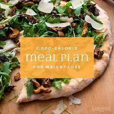 7 Day Diet Meal Plan To Lose Weight 2000 Calories