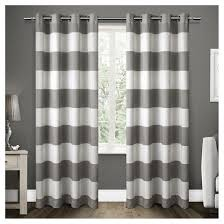 gray striped curtains target