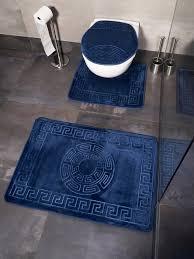 badematte trendmax marmour 3 teilig bad matte dusche set 2 rutsch stand bad matten wasser absorbierende toillette badezimmer teppich 1x matte