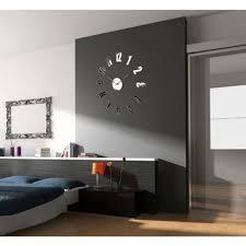 großer spiegel uhr dekor uhr wohnzimmer uhr moderne uhr spiegel aufkleber diy uhr silber uhr riesige uhr wand dekor wanduhr