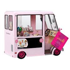 Our Generation Sweet Stop Pink Ice Cream Truck For American Girl 18 ...