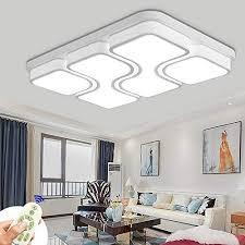 miwooho 100w led deckenleuchte dimmbar deckenle design angenehmes licht wohnzimmer beleuchtung wandleuchte energieklasse a