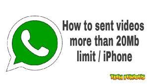 How to sent videos more than 20mb in Whatsapp iPhone Mahesh Kumar