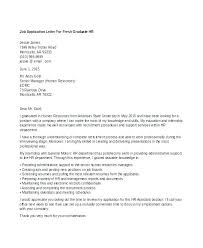 Hr Cover Letter Sample Fresh Graduate Human Resources Manager 3