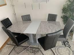 einzelstück granit esszimmer tisch inkl 6 stühle