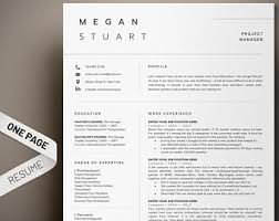 Resume Template Professional 1 Page Modern CV Cover Letter