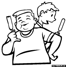 Corn Dogs Coloring Page